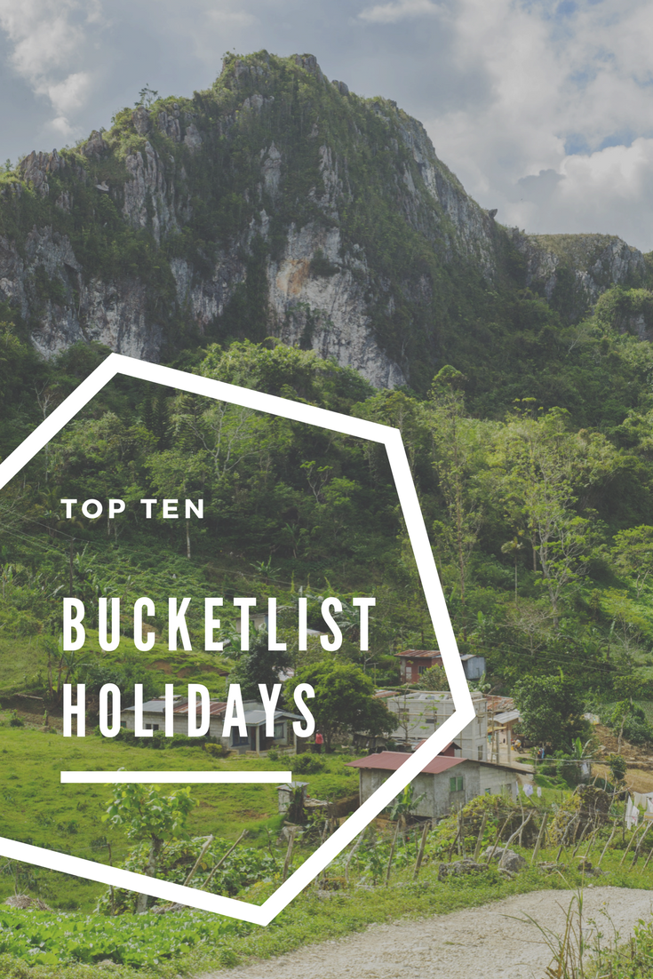 bucket list holidays