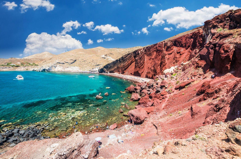 best beach in santorini