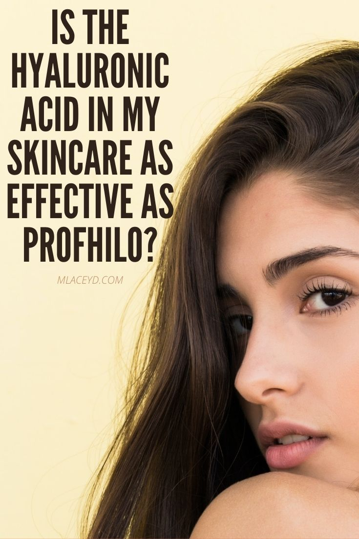 Will hyaluronic acid skincare products have the same effect as profhilo?